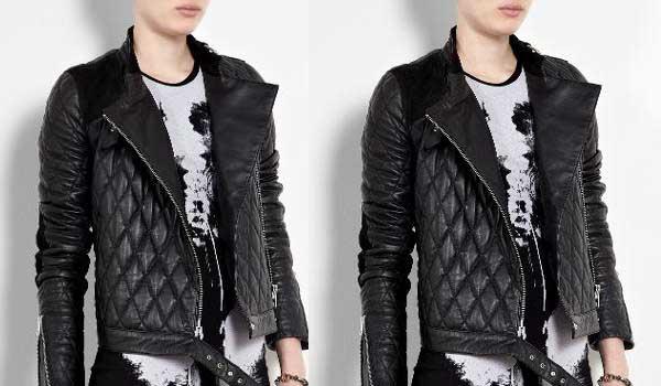 Alexander McQueen quilted leather aviator men's - jacket 2012