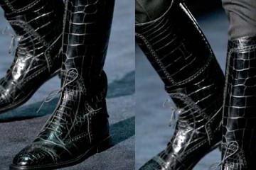 Gucci Boots -black alligator -2012