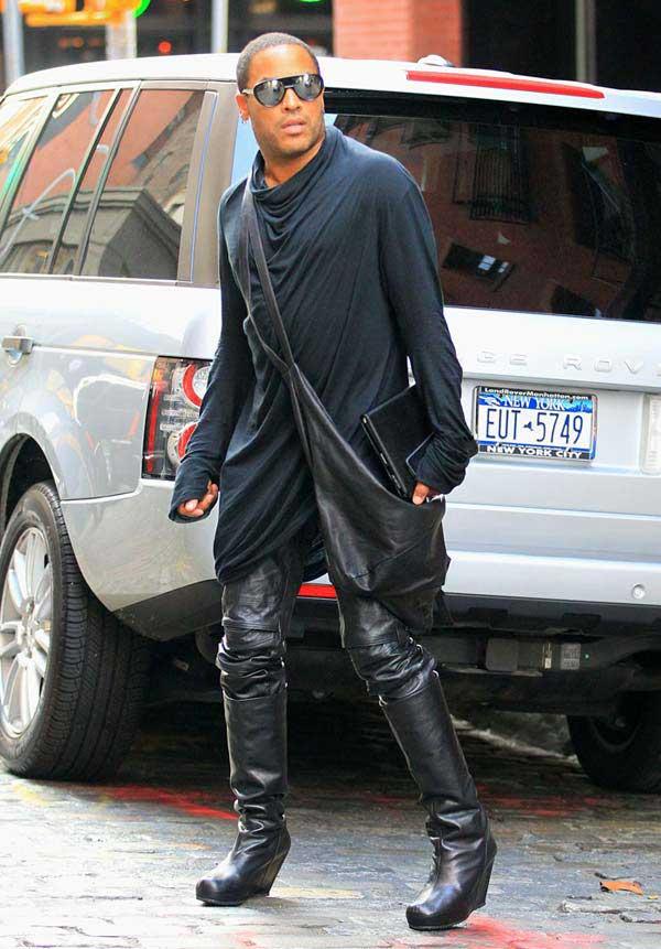 Lenny Kravitz - wearing knee-high boots