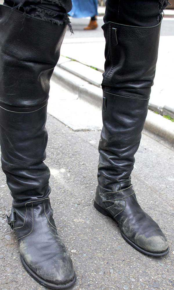 Men and knee-high boots