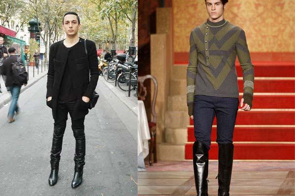 men wearing high boots