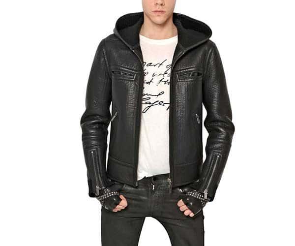 Karl Rigid - Wool Knit & Leather Jacket