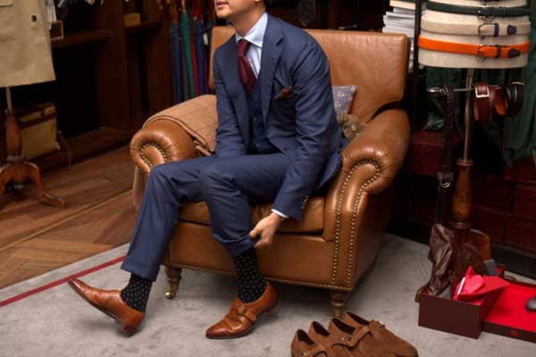 the gallery for gt grey suit brown shoes socks