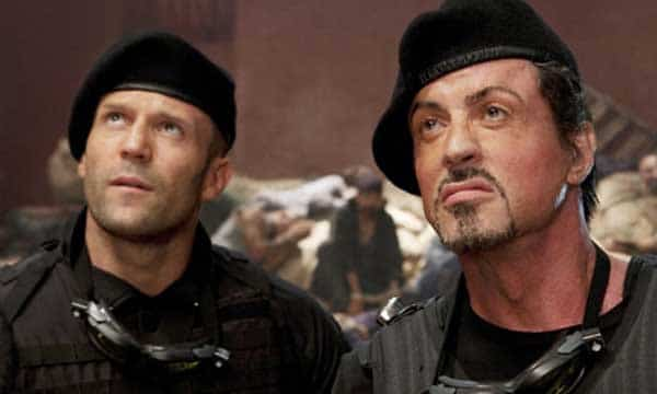 The Expendables Film - Jason Statham and Sylvester Stallone