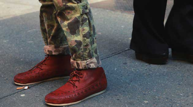 cuff roll-up trousers style