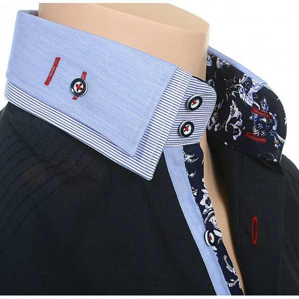 Epsy Double Collar Shirts for men dark blue