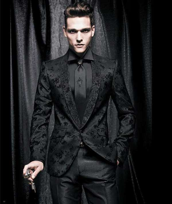 glamour goth evening wear for men