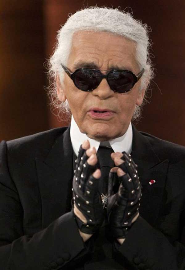 karl largerfeld - chanel leather gloves black