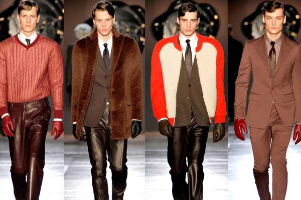 red, orange, brown or black leather - men's gloves