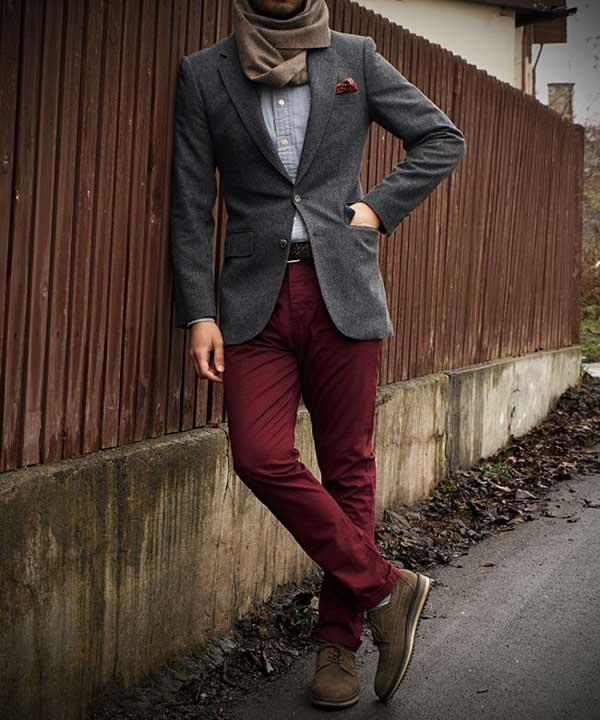 Denim Dark Red - roll ups for men 2013