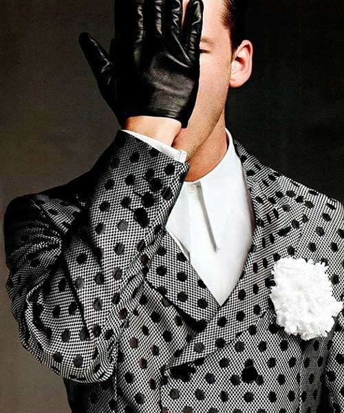 Polka Dots - Grey and black blazer for men 2013