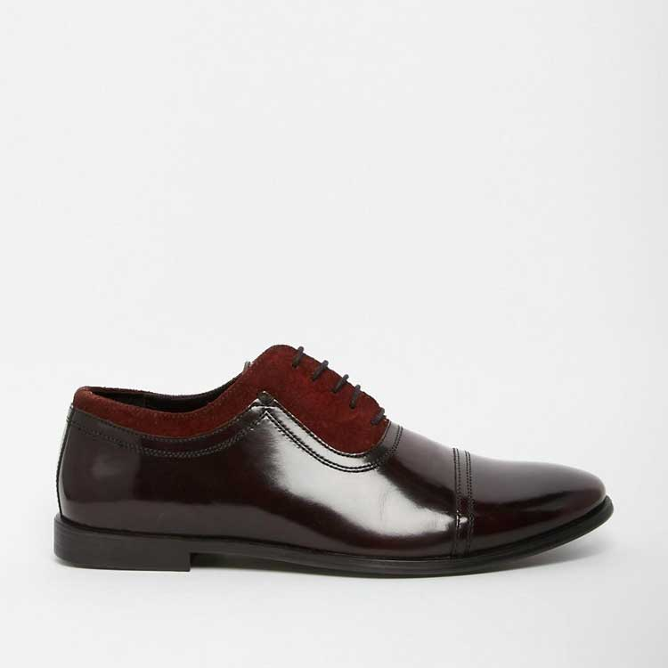The Red Oxford Shoes Men Style Fashion
