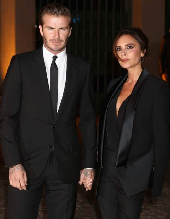 David Beckham and Victoria beckham at London Fashion Week 2013