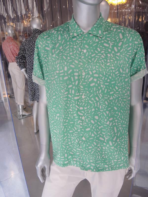 Hunter Gather - Spring Summer Collection Men 2014 - Green Shirt - London Collections Men