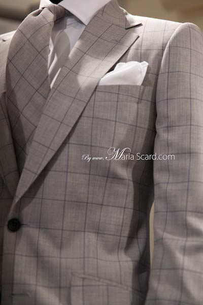 Marks & Spencer 2014 Grey Jacket  Collections & Chunky Tie - checkered suit