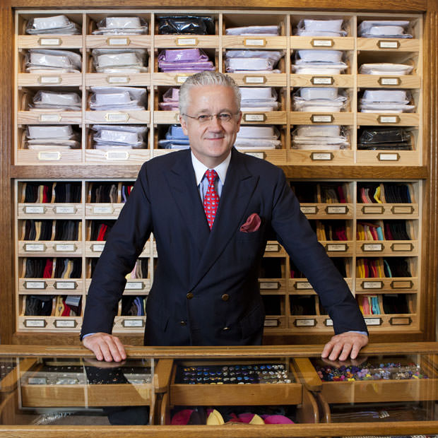 Andrew Rowley Store manager for budd shirtmakers - Savile Row