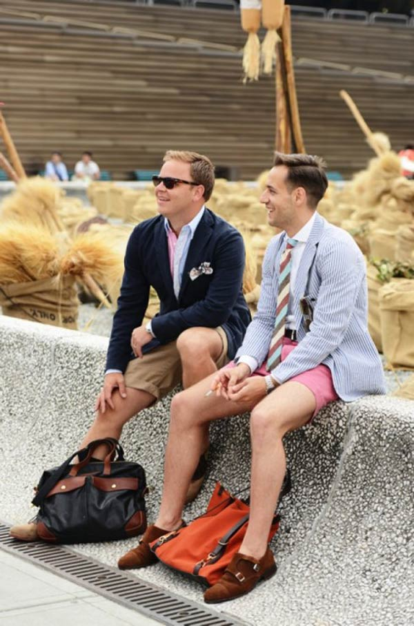 Suit shorts for men mix and match summer ties