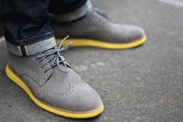 Grey Suede Brogue