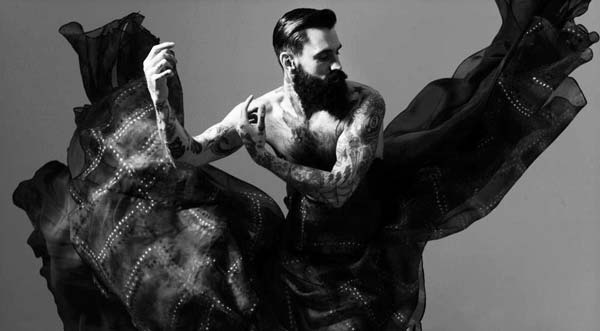 Ricki Hall by Ram Shergill for Ziad Ghanem Couture AW13