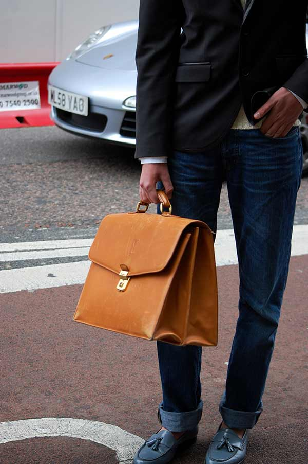 mens man bag tan leather tote