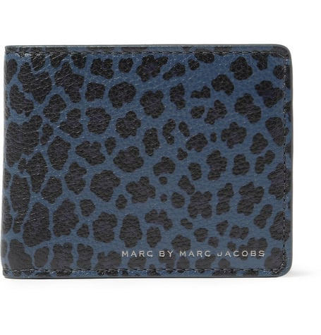 Marc by Marc Jacobs Leopard Print Leather Billfold Wallet