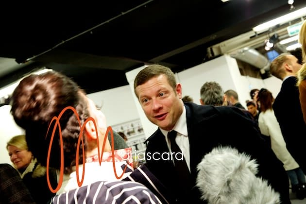 Dermot O'Leary Interview at london Collections Men AW 14