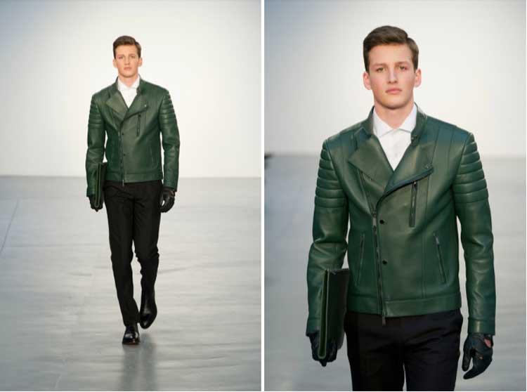 Kent Curwin 2014 Pleather Jacket Green (1)