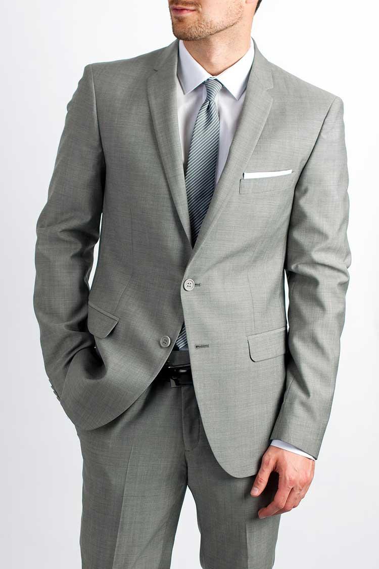 Cocktail Party Suit Part - 33: Calvin-Klein-Charcoal-Grey-Suit