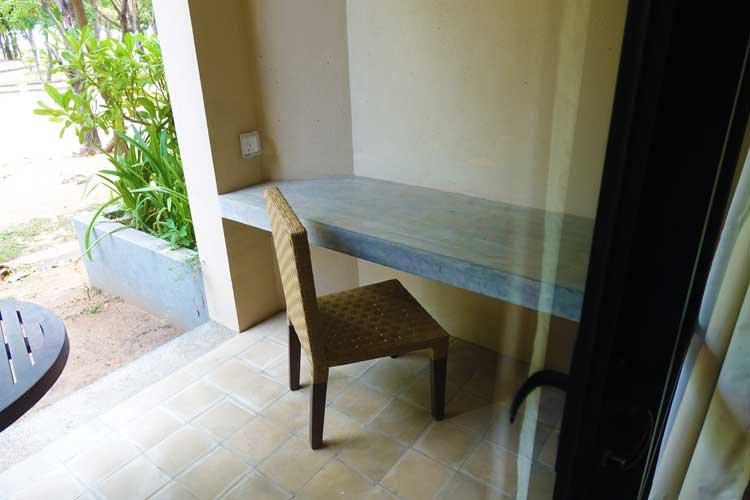 Sunrise By Jetwing Sri Lanka Hotel Review - the room outside area desk